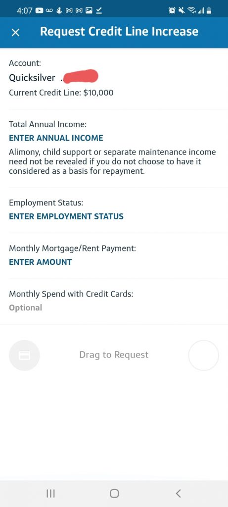 Capital One App - How To Increase Credit Limit