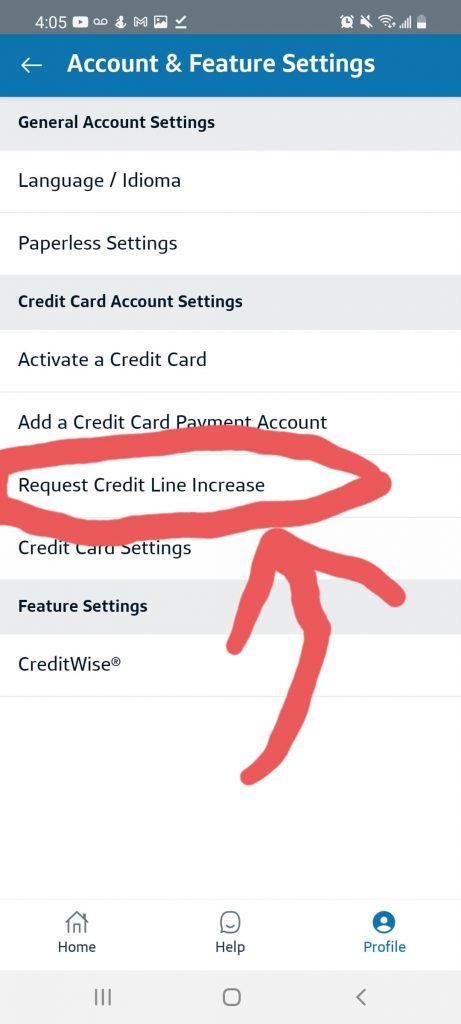 Capital One Credit Limit Increase