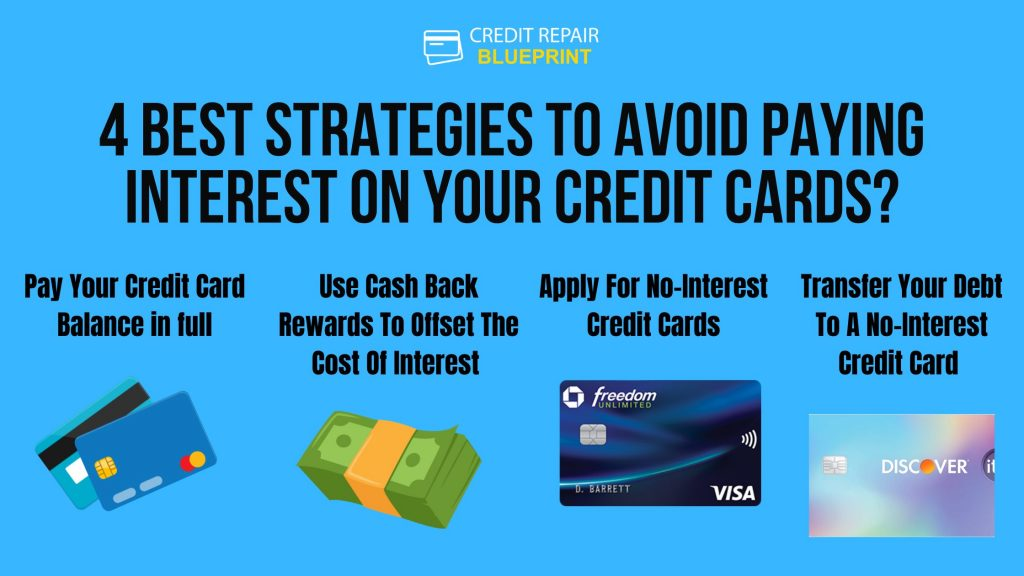 Best Strategies to avoid paying interest on your credit cards
