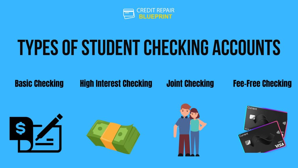 Types of student checking accounts