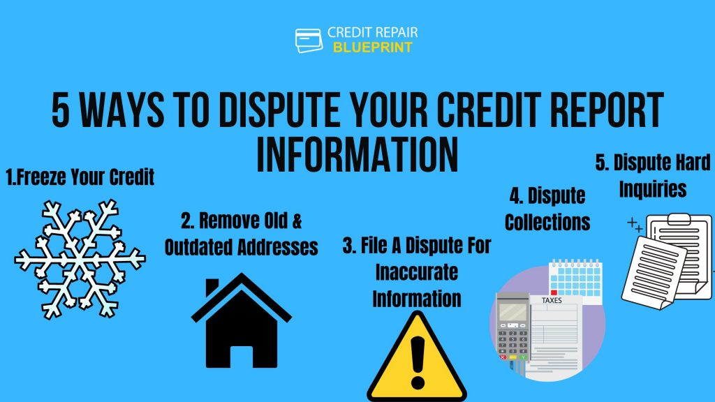 5 Ways To Dispute Your Credit Report Information
