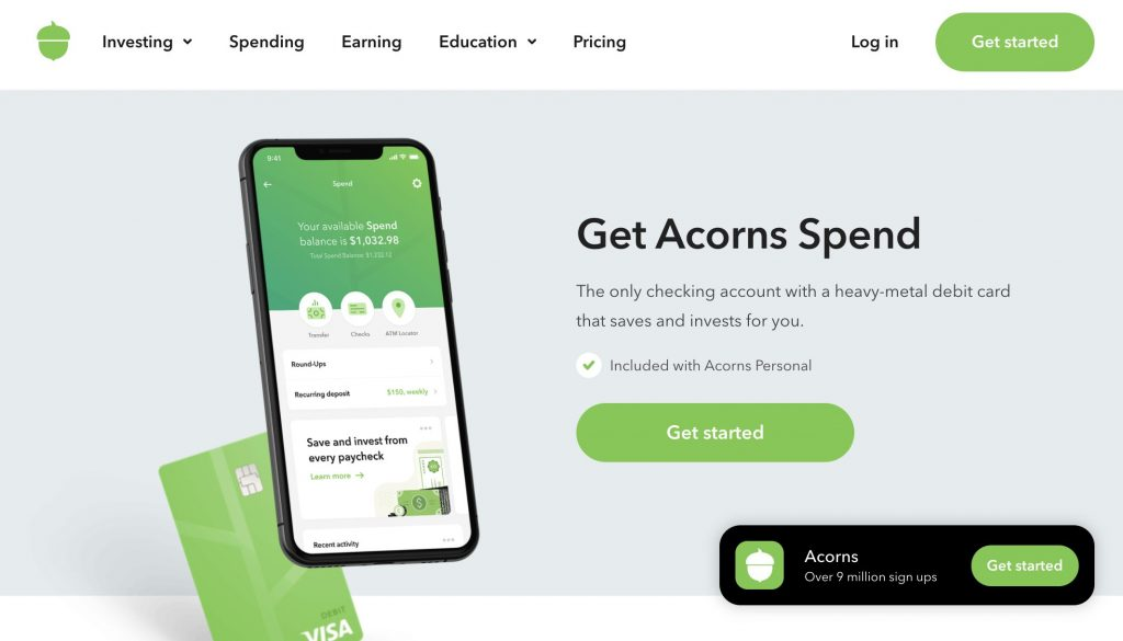 Acorns Spending Account - Banks Who Don't Use ChexSystems