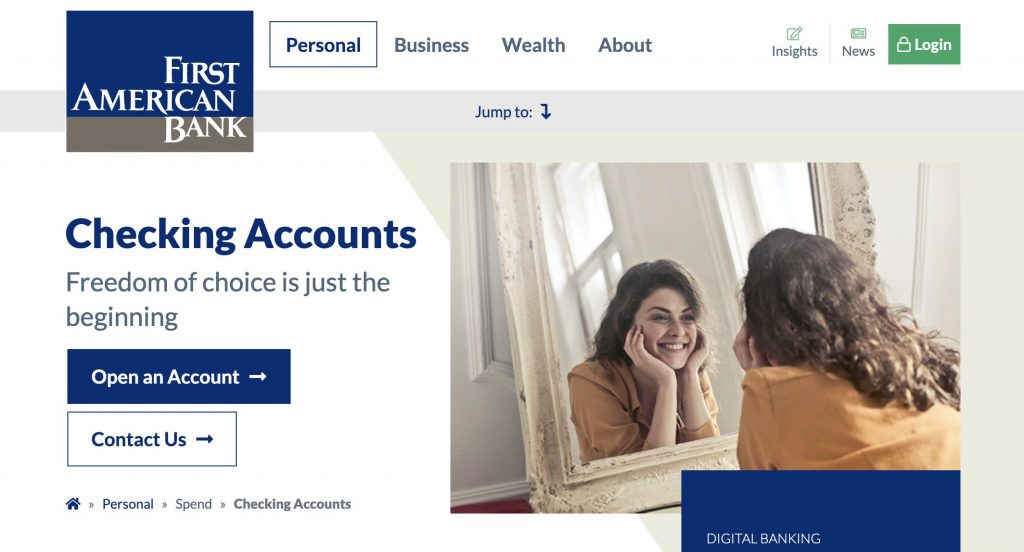 First American Bank - Banks Who Don't Use ChexSystems