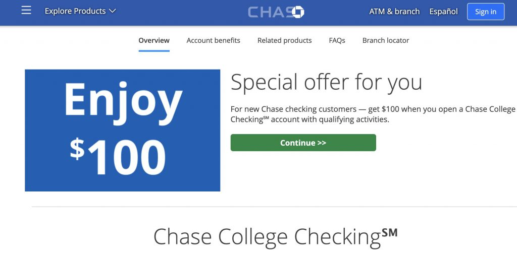 Chase Student Checking Account- Best Student Checking Accounts