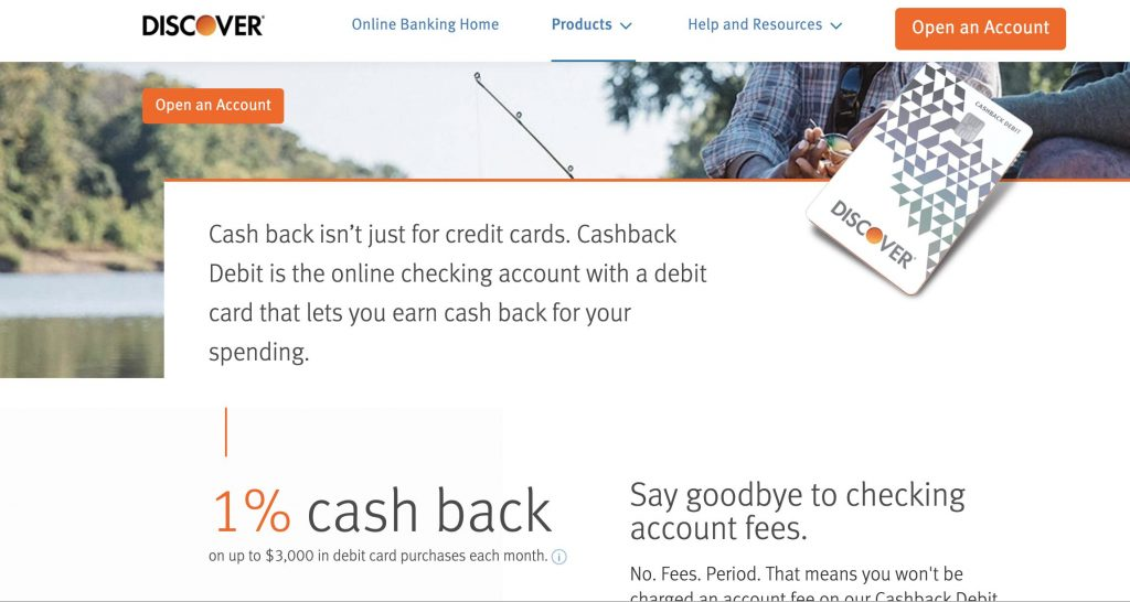 Discover Bank Cashback Debit Checking - Best Student Checking Accounts