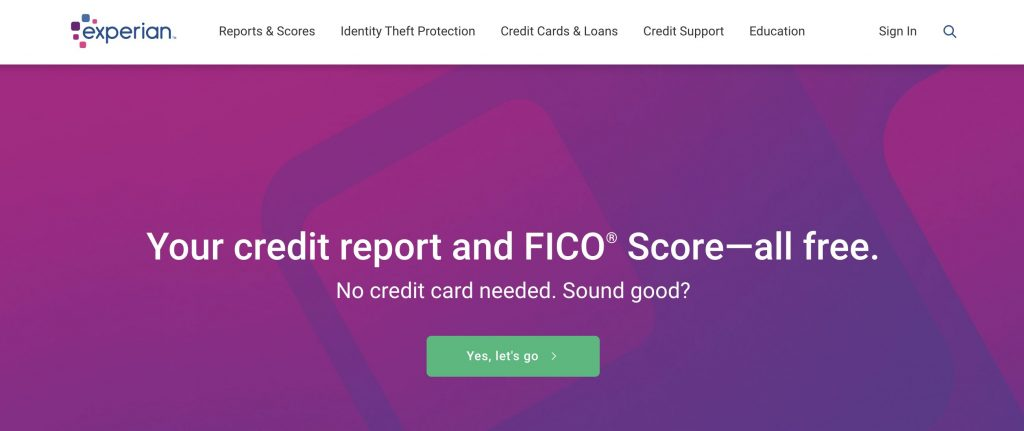 free credit report Experian