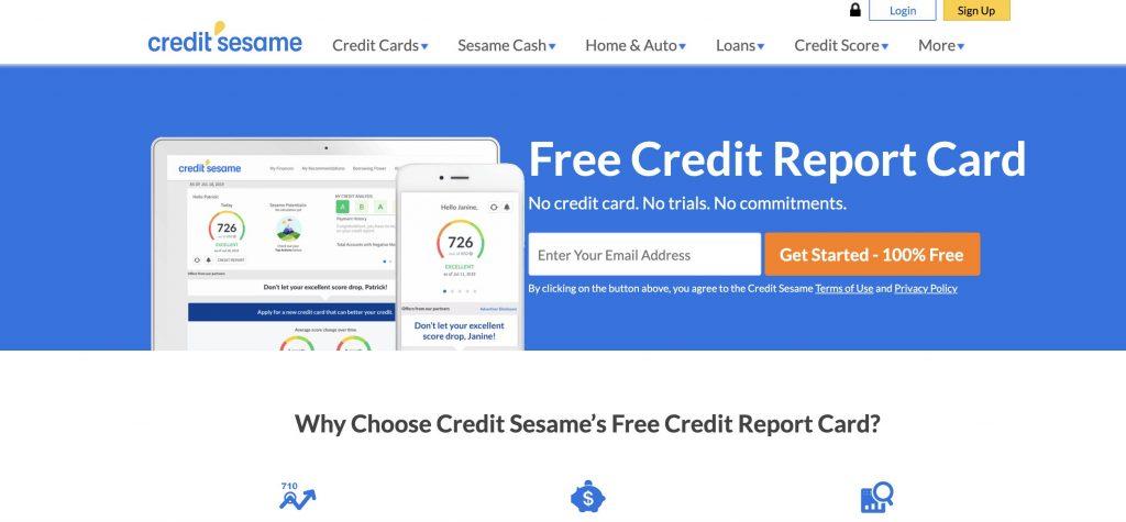 free credit report credit sesame