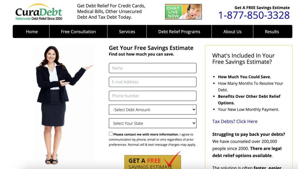 CuraDebt Debt Consolidation For Credit Card Debt