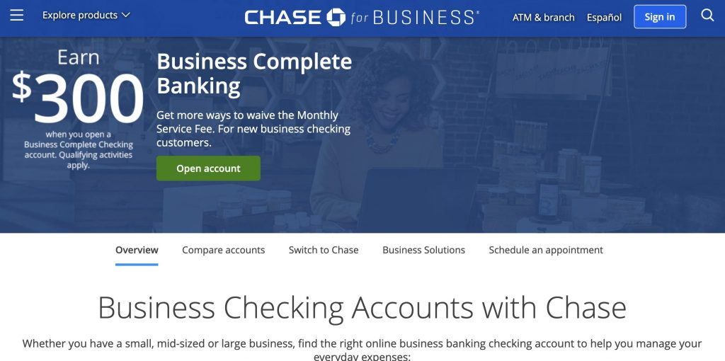 Best business checking account - Chase business complete checking