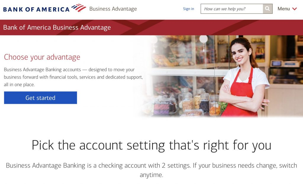 bank of america business advantage best business checking account