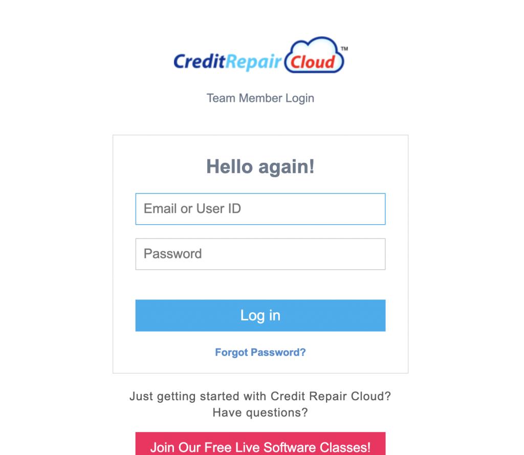 Credit Repair Cloud Login