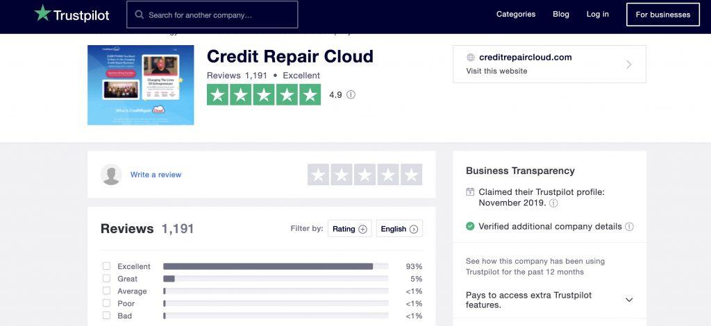 credit repair cloud trustpilot review