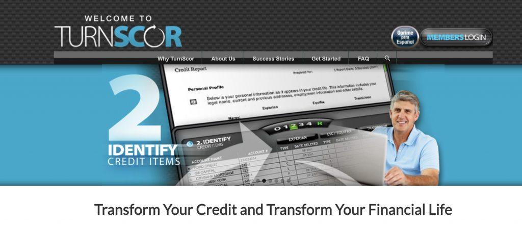 Turnscor credit repair software