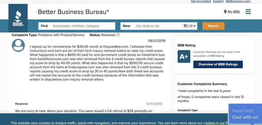 Disputebee Better Business Bureau