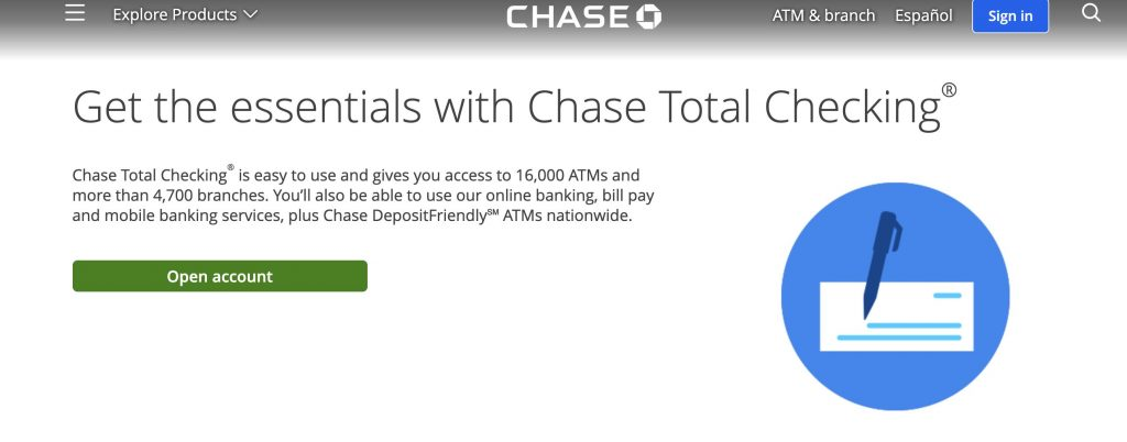 Chase total checking Best Free Checking Account